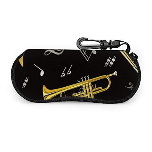 N / A Trompeta Trombón Cuerno Francés Gafas Duro Caso Con