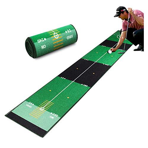 Qdreclod Tappetini Putting da Golf Attrezzatura da Allenamento da Golf con Funzione di Ritorno Automatico della Sfera per l'home Office al Coperto all'aperto (3M X 0.5M)