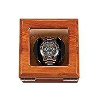 Sunmong 自動巻き時計ワインダーボックスケース、静かなモーター、高級木製時計回転ボックス、100%手作り(カラー:B)