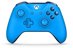 Compatible with Xbox One X, Xbox One S, Xbox One, Windows 10 Includes Bluetooth technology for gaming on Windows 10 PCs and tablets Features a solid blue finish and textured grip Get upto twice the wireless range compared to previous Xbox One control...