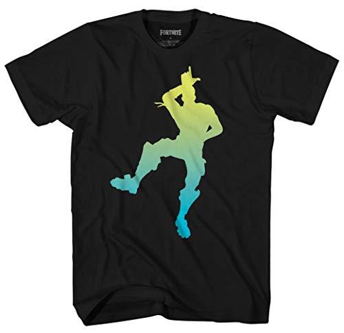 Mad Engine Fortnite L Dance Take The L Boys Short Sleeve T-Shirt (Black,X-Large)
