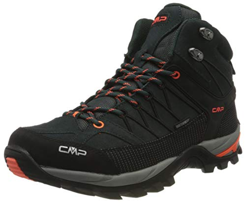 CMP – F.lli Campagnolo Herren Rigel Mid Shoe Wp Trekking- & Wanderstiefel, Grün (Jungle-Flash ORANGE 32TE), 39 EU