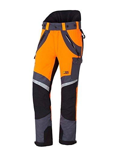 PSS X-Treme Air Schnittschutzhose orange/grau, die Sportliche, Größe 50