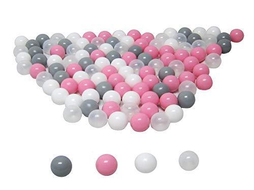 koenig-tom - 100 palline per la piscina, 6 cm, mix rosa per asilo e qualità commerciale