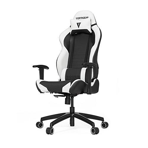 VERTAGEAR S-Line 2000 Gaming Chair, Medium, Black/White chair gaming white