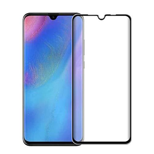 SMARTRICH Displayschutzfolie für Huawei P30 Lite, 9H gebogenes gehärtetes Glas, explosionsgeschützt, volle Abdeckung, hüllenfreundlich, HD-Klarfolie