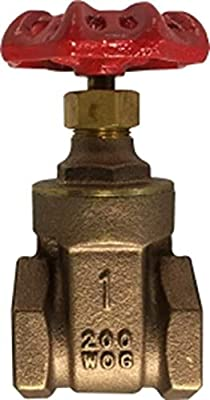"Midland 940-138 Brass Gate Valve, 2-1/2""-8 NPT, 3.70"" Length, from Midland Metal"