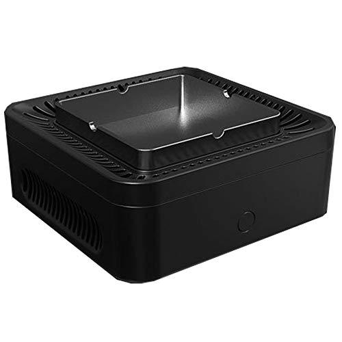 HUIHUAN Aschenbecher Luftreiniger Multifunktions-USB-Akku mit hoher Kapazität, staubfrei, rauchfrei, Aktivkohlezusatz, sauber, gebrauchter Rauchschutz