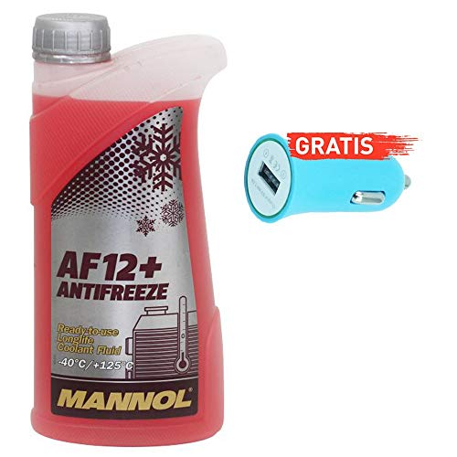 Ein Liter Original ein Liter Mannol Kühler Frostschutz MN4012-1 + Autoladegerät geschenkt