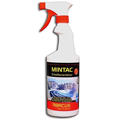 ABACUS MINTAC 750 ml Konzentrat -70°C (4096) - Scheibenfrostschutz Scheibenenteiser Scheiben Spiegel Enteiser Antifrost Scheibenreiniger Scheinwerferreiniger Eisfrei Glasreiniger Scheibenreiniger