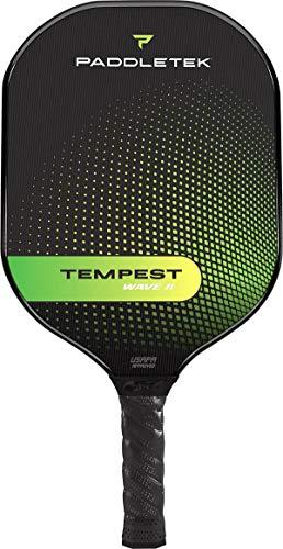 Paddletek Tempest Wave II Paleta de Pickleball, 7.4-7.8 Ounces, Verde