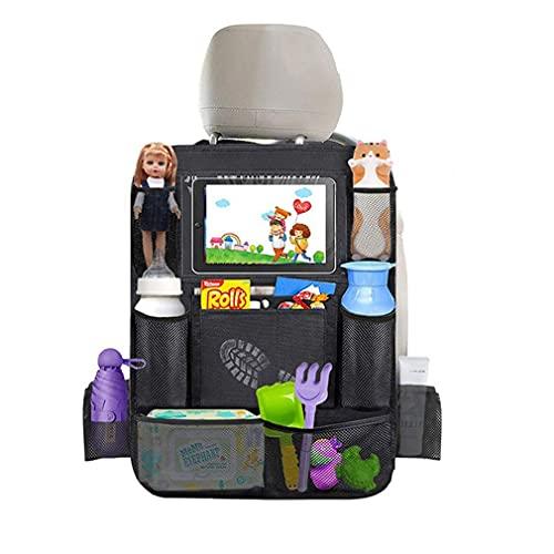 1 Organizadores para Coche, Niños de Coche Organizador para Asientos de Coches, Universal Multi-Bolsillo Protector Trasero del Asiento de Coche para almacenar botellas, libros, aperitivos