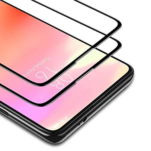 BANNIO Vetro Temperato per Xiaomi Mi 9T/Mi 9T PRO/Xiaomi Redmi K20 / K20 PRO,2 Pezzi Full Screen Pellicola Protettiva,Copertura Totale Protezione Schermo,Nessuna Bolla,Anti-Impronte,Nero