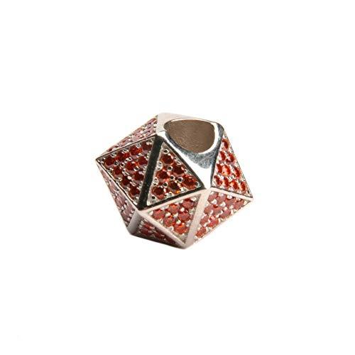 Linda Giese Charm Anhänger - Heilige Geometrie - Chakra-Energie - Chakra Design Schmuck mit Symbolischer Wirkung für Kette und Armband - 925 Sterling Silber - 1 cm x 1 cm (Erotik)