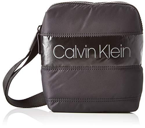 Calvin Klein Puffer Mini Reporter, Sacs portés épaule homme, Noir (Black), 1x1x1...