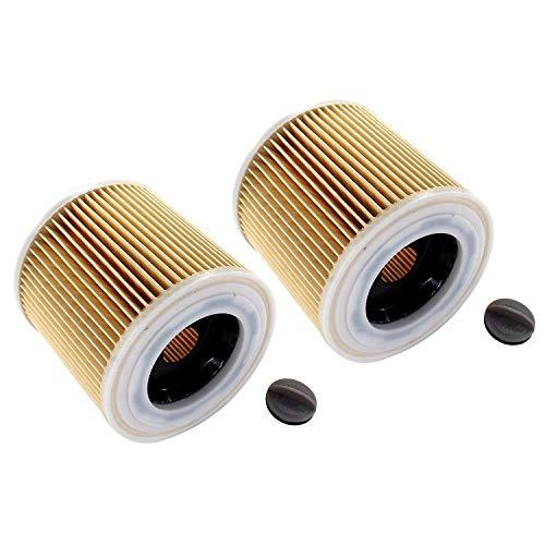 AISEN 2x Patronen-Filter für Kärcher SE 4001 4002 Waschsauger, WD 2.200, WD 3.200, WD 3.300 M