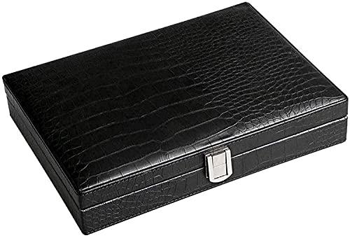 WXking Accessoires Fumeurs, boîte de Cigare en Cuir de Voyage Portable Portable, Valise Humide de Cigare avec hygromètre et boîtier décoratif humidificateur