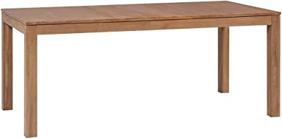 vidaXL Dining Table Solid Teak Wood with Natural Finish 180x90x76 cm