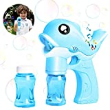 Bubble Machine,Bubble Maker Automatico,Macchina per Bolle per Bambini,Pistola a Bolle di Sapone,Macchina per Fare Bolle Automatica,Bubble Machine Toys,Bubble Maker (Blu)