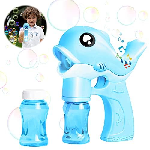 Sunshine smile Seifenblasen-Pistole,Seifenblasenmaschine Kinder,Automatische Bubble Machine Spielzeug,Seifenblasenpistole mit 2 Seifenblasen Nachfüllflasche,Bubble Maker Spiele Outdoor Bubble Toys