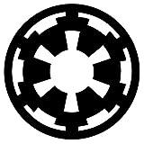 Sticker Bomb Star Wars Empire Logo Vinyl Decal Sticker (Matte Black)