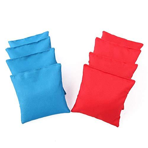 Millster Original Cornhole Sitzsack Set (8er) - 4 Rote Und 4 Blaue Cornhole Säckchen