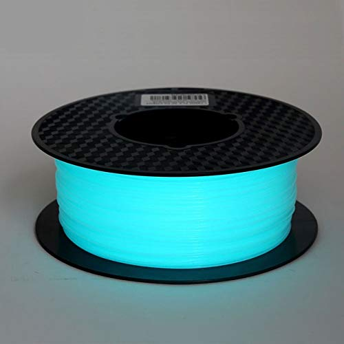 L.Z.H PLA 3d Printer Filament Noctiucent 1.75mm Printing Material Noctilucous Blue Green Purple 1kg Glow In The Dark 3d Printer Accessories (Color : E blue, Size : Free)
