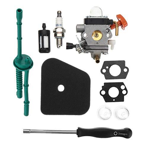 Générique Carburateur Air Filtre à Carburant Joint Carburateur pour Stihl FS38 FS45 FS46 Fs46 C Fs55rc Fs85 COD
