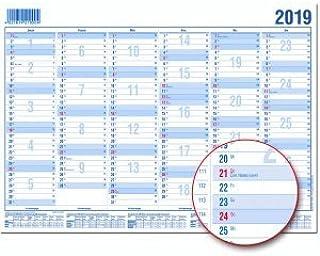 1 Seite = 6 Monate, kr/äftiger Karton, Kalendarium 2020 BRUNNEN 1070141 Tisch-//Tafelkalender A 4 Modell 701 41