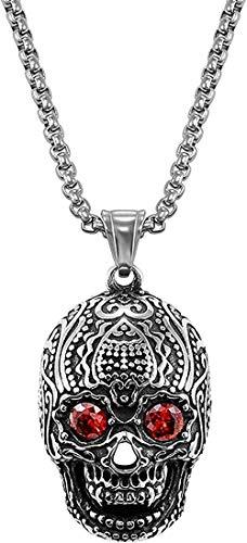 Necklace For Men Women New Stainless Steel Gothic Evil Horn Devil Demon Skull Pendant Necklace Eagle Hip Hop Punk Halloween Necklace For Men 13 Fashion Pendant Necklace Girls Boys Gift