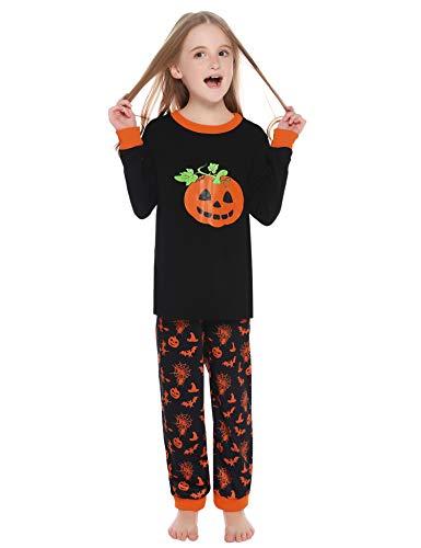 Hawiton Pijama niño Algodon Ajuste Ceñido, Manga Larga Blusa y Pantalones Largos con Lunares ondulados, Conjunto de Disfraz Ropa de Dormir Invierno 2-11 años