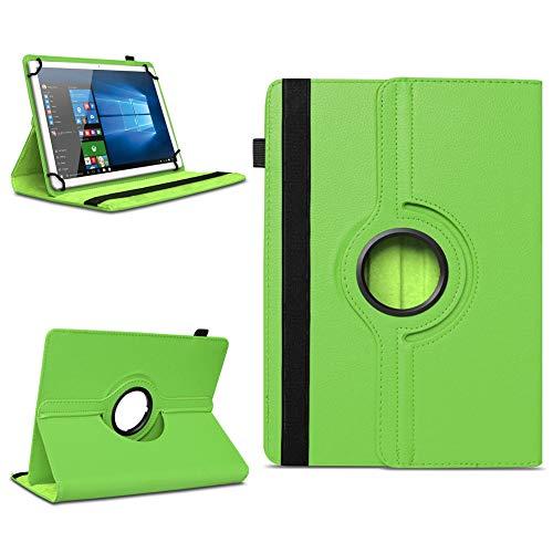 NAmobile Tablet Tasche kompatibel für Wortmann Terra Pad 1006 Hülle Schutzhülle Tablettasche mit Standfunktion 360 Crad drehbar Universal Tablethülle, Farben:Grün