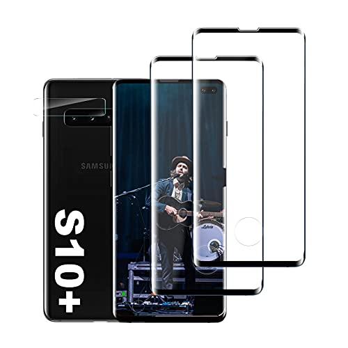 Panzerglas Schutzfolie für Samsung S10 Plus, [2 Stück] [Ultra Klar] [9H Härte] [Unterstützt die Fingerabdruckerkennung] Hohe Qualität Displayschutzfolie für Samsung Galaxy S10 Plus/S10+