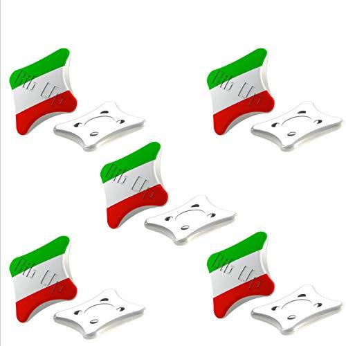 BibUp Sistema Magnetico Fissaggio Pettorale da Gara (Bandiera Italiana)