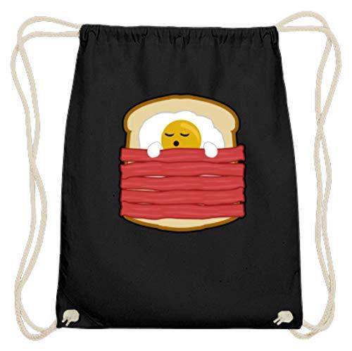 Ei mit Bacon auf Toast - Toast Hawai Fast Food - auch als Geschenk - Baumwoll Gymsac