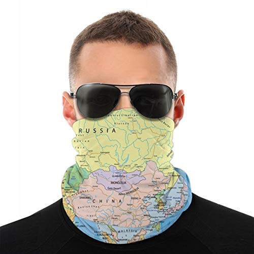 EU India Azië Continent Politieke Kaart Rusland Atlas VAE Hoofdband Variety Turban Hood Magic Veil Hoofd Sjaal Multi Functie Sjaal