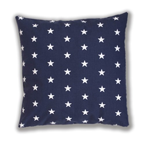 Amilian® Dekokissen Kissenbezug Kissen 40cm x 40cm Sternchen blau
