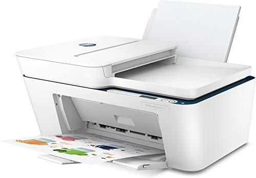 HP DeskJet Plus 4130 Stampante Multifunzione, Stampa, Scansiona, Copia, formato A4, Fax da Mobile, ADF, Wi-Fi e Wi-Fi Direct, USB 2.0, 6 Mesi di Instant Ink inclusi, Bianca
