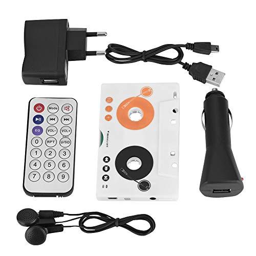 Adaptador de Casete de Cinta Reproductor de MP3 para automóvil con Control Remoto Cable de Carga USB Cargador para automóvil