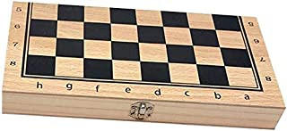 Portable International Chess/Checkers/Backgammon 3 In 1 Set with Foldable Storage Board Travel Board Games, Toys Gifts for...