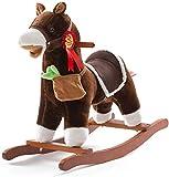 ZHANGYUEFEIFZ Schaukelpferd Plüsch Schaukeltier Pferd Rocking Horse Kinder Holzpferd Baby...