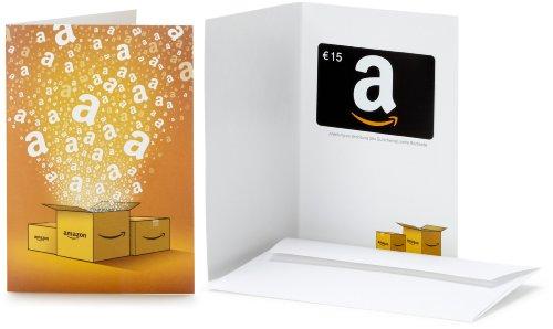 Amazon.de Geschenkkarte in Grußkarte - 15 EUR (Alle Anlässe)