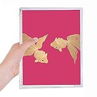 日本文化の魚の絵 硬質プラスチックルーズリーフノートノート