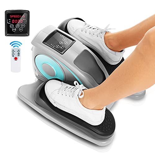 ANCHEER Under Desk Cycle, Indoor Pedal Exerciser, Electric Desk Elliptical Machine Trainer with Built in Display Monitor Quiet & Compact