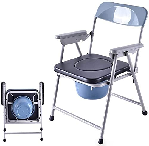 Silla con inodoro extraíble que puede mover a anciano, mujeres embarazadas, silla de baño, orinal de baño, taburetes de baño resistentes e impermeables
