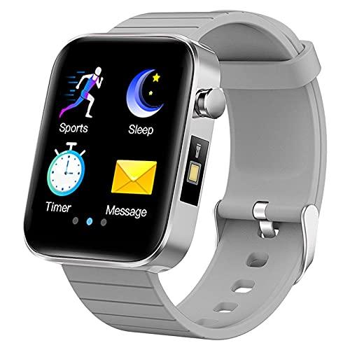 QIXIAOCYB Smart Watch con linterna en el cuerpo de la muñeca Medición de temperatura Datos deportivos Monitor de calorías Monitor de deportes inteligentes Pulsera de la ritmo cardíaco Presión arterial