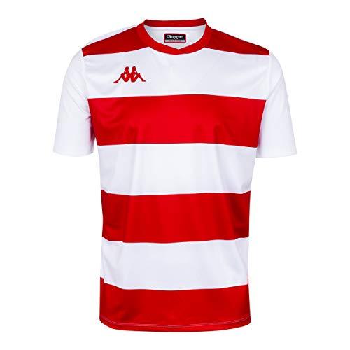 Kappa Casernhor SS Camiseta fútbol, Hombre, Blanco/Rojo, 2XL