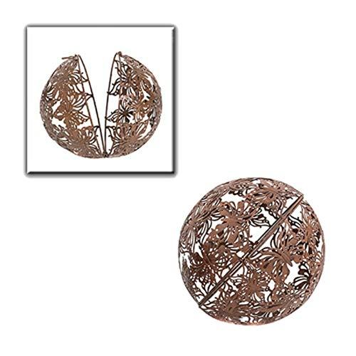Dekokugel Papillon zum Öffnen Metall Pflanzkugel Braun D = 22 cm