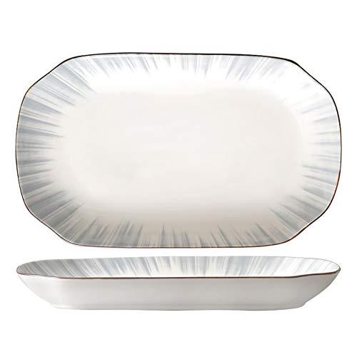 Service De Table 5-12 Personnes,Porcelaine Trendy Vaisselle,Vaisselle Japonaise,Cuisine Et Maison,Style Minimaliste Nordique,Support Lave-vaisselle Four Micro-ondes,Fish Plate