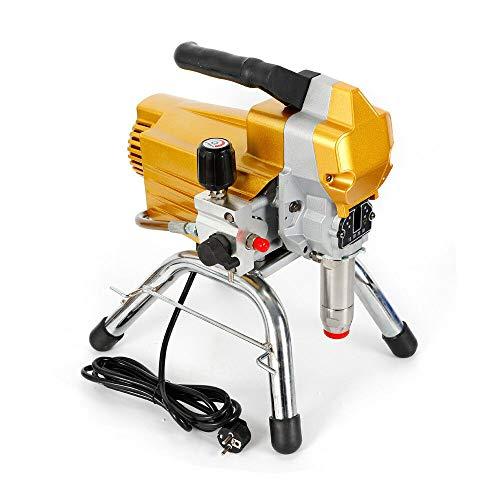 2200 W Airless, macchina per verniciatura a spruzzo, ad alta pressione, 220 V, 1,8 l/M, per pittura, vernici, legno, giallo
